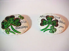 ST PATRICKS DAY PAPER WEIGHTS DESK OR DOOR STEP DECORATION