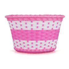Oxford Girls Woven Bike Basket - Pink