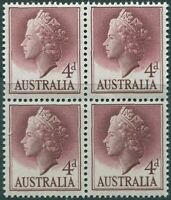 Australia 1955 SG282a 4d lake QEII block MNH