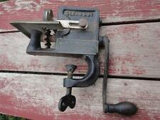 Antique Maxant Button & Supply Co Pleating Pinking Machine Clean Cut Cast Iron