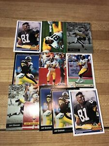 Jeff Graham Lot of 11 Steelers 6 Different Cards Base, Rookies