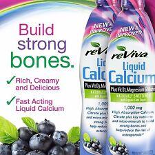 LIQUID reViva ® Calcium, 2 Bottles Blueberry Calcium Citrate, Bone Health, 64 oz