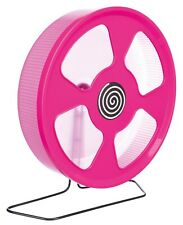 August Offer Giant Pink Covered Trixie Plastic Pet Rat Cage Exercise Wheel 33cm