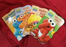 4 Sesame Street Board Book Preschool Toddler Educational Bubbles Zoo Night Night