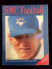 VINTAGE SMU vs. Arkansas Mustangs College Football program 1990 FORREST GREGG