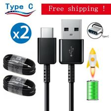 2x For Samsung OEM USB-C Type C Cable Fast Charging Cord Galaxy S8 Note 8 LG G6