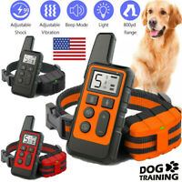 Dog Training Collar Rechargeable Remote Control Waterproof Electric Pet Shock