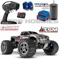 Traxxas 39086-4 1/10 E-Maxx Brushless 4WD Truck Silver RTR w/ TSM / TQi / MXL-6s