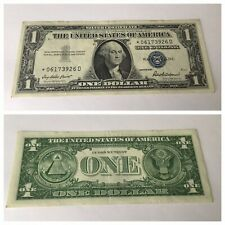 VINTAGE rare *-D BLOCK $1 STAR 1957 SILVER CERTIFICATE ONE DOLLAR BLUE SEAL VNC