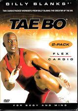 D6 Billy Blanks - Tae Bo 2 PK (DVD, 2006, 2-Disc Set) CARDIO/FLEX SET