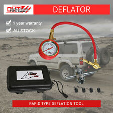 Air Deflators Off Road 4WD Rapid Tyre Deflator With Pressure Gauge Valve Tool