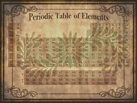 """Periodic Table of Elements, science, antique, vintage Art 24""""x18"""" print"""