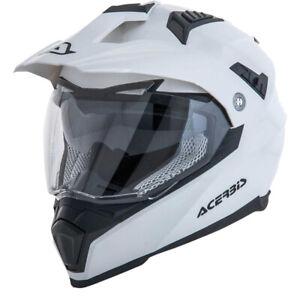 Acerbis Mx Flip FS-606 White Dual Sport Motocross Dirt Bike Adventure