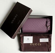 Gucci señora monedero Cartera guccissima-cuero color: morado nuevo