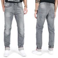 Diesel Mens Slim Tapered Fit Stretch Denim Jeans - Gray Grey - Tepphar 084HP