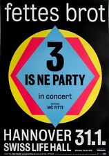 FETTES BROT - 2014 - Konzertplakat - 3 is ne Party - Tourposter - Hannover