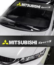 Mitsubishi Front Window Windshield Carbon Fiber Vinyl Banner Decal Sticker