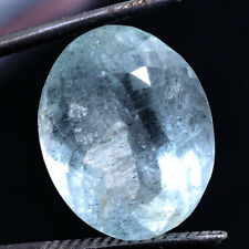 10.00 Cts Unheated Natural Aquamarine Sparkling Certified Gemstone - Santa Maria