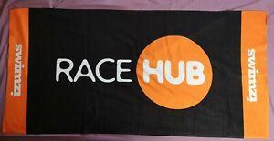 Swimzi Orange Black Race Hub Single Sided Print Towel - New In Pack