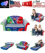 2in1 Kids Convertible Flips Open Sofa Bed Toddlers Couch Play Lounger Pj Mask