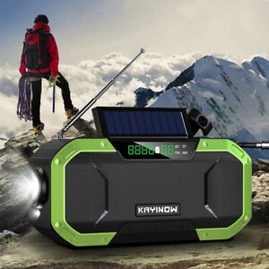 Emergency Solar Hand Crank Weather Radio 5000mAh Power Bank Charger Flash Ligh!!