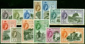 Sierra Leone 1956 Set of 13 SG210-222 Very Fine MNH