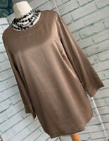 COTSWOLD COLLECTION Cappuccino Satin Evening Top Sz 10 UK *BNWOT* Party / b26