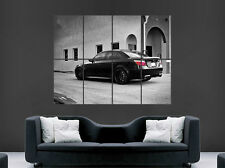 BLACK BMW M5 E60 CAR FAST SPEED RACING SPORT WALL ART PRINT LARGE GIANT