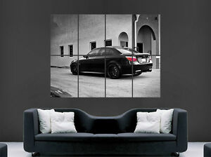 BLACK BMW M5 E60 CAR FAST SPEED RACING SPORT WALL ART PRINT LARGE GIANT