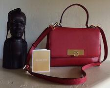 Michael Kors Women Callie Medium Red Pebbled Leather Satchel NWT MSRP 278$+TAX