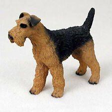 Airedale Terrier Figurine Hand Painted Statue