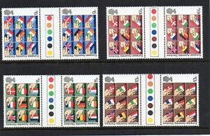 GB 1979 European Elections traffic light gutter pairs MNH Unfolded stamps
