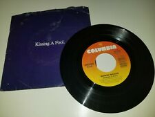 "GEORGE MICHAEL Kissing A Fool + Instrumental COLUMBIA VINYL PS 45 7"" RECORD"