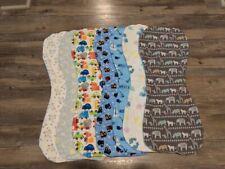 Flannel Burp Cloths Contoured Soft Double Layer Handmade