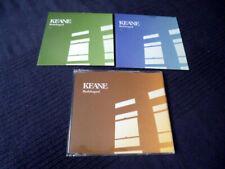 3 CDs KEANE Bedshaped CARDSLEEVES CD 1 & CD 2 +Jewel Case 11 Tracks 3 video LIVE