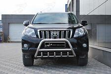 Toyota Land Cruiser Prado Eje empujar una barra de acero inoxidable Bull Bar - 2010 en adelante