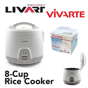 Vivarte 8 Cup Rice Cooker - Non Stick Cooking Pot, 1.5L, Feeds 8 to 10 people