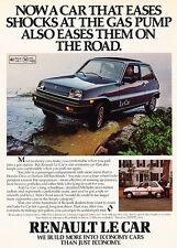 1980 Renault Le Car - Puddle - Classic Vintage Advertisement Ad D23