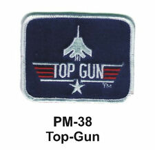 """3"""" TOP-GUN -Embroidered Military Patch -brand new"""