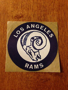 """VERY RARE VINTAGE LOS ANGELES RAMS LOGO MASCOT STICKER DECAL 1950s 1960s NFL 3"""""""