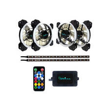 Apevia SP412L2S-RGB Spectra 120mm Silent Dual Ring Addressable RGB Color