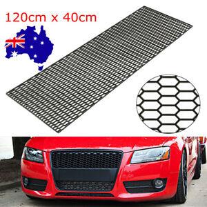 120X40CM Car Racing Honeycomb Mesh Grill Spoiler Bumper Vent ABS Plastic AU