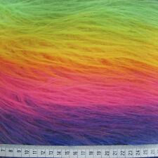 LONG HAIR FAUX FUR FABRIC - MONSTER- 1M - RED/PINK/PURPLE/RAINBOW/WHITE/BLACK