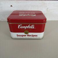 Campbell's Soup Collectible Tin Box Souper Recipes
