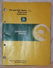 John Deere 815 &  825 Series Row-Crop Cultivators Operator's Manual