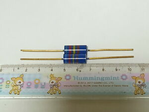 2 X MADE IN JAPAN RIKEN OHM RMG 620000R 620K 1% 2W AUDIO GRADE CARBON RESISTOR