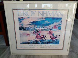 LEROY NEIMAN - HOTEL DEL CORONADO HORSES RUN THE BEACH PRINT W/SIGNATURE