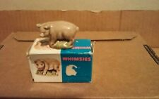 Wade Figure Miniature England Whimsie 6 Pig with Box 1975 Lot#172