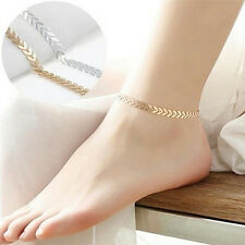 Boho Women Sexy Barefoot Arrow Ankle Chain Anklet Bracelet Beach Foot Jewelry UK