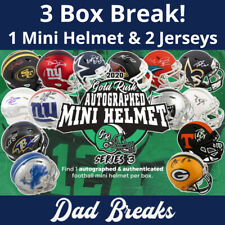 CHICAGO BEARS Signed Gold Rush Mini Helmet + 2 Autographed Jerseys: 3 BOX BREAK